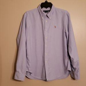 Mens Blue Oxford Button Down Shirt